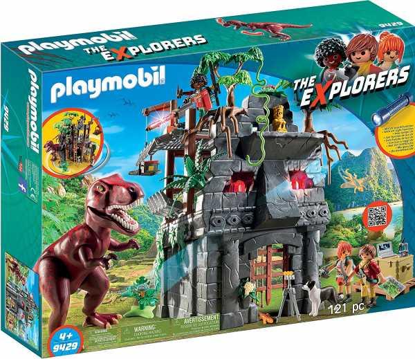 Playmobil- Giocattolo Campo Base E T-Rex, Multicolore, 9429