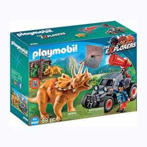 Playmobil 9434 - Fuoristrada Con Rete Per I Dinosauri