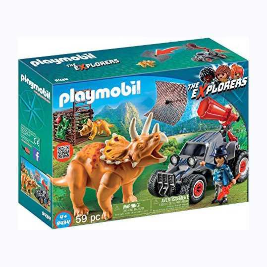 Playmobil Dinos 9434 Fuoristrada Con Rete Per I Dinosauri, Dai 4 Anni