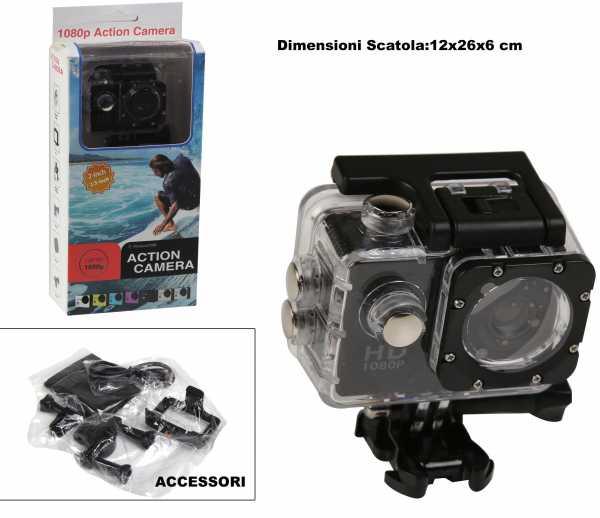 Mini Sport Camera Action Cam Full HD Con Accessori