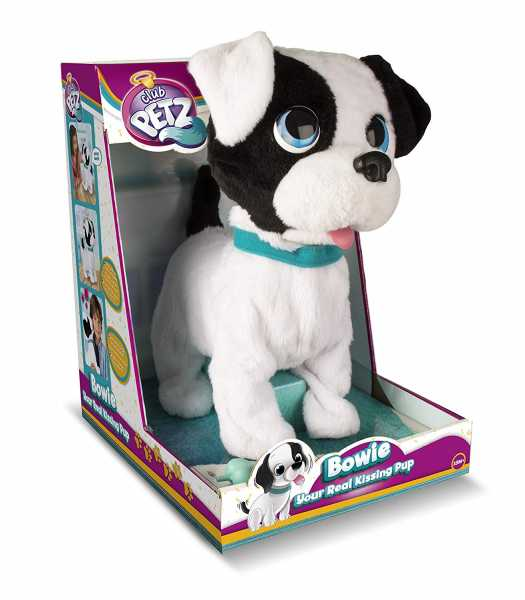 IMC Toys Bowie Kissing Puppy Club Petz Cagnolino Affettuoso, Colore Grey, 96899IM3 (Lingua Italiana)