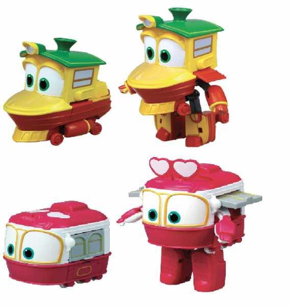 Rocco Giocattoli 21737234 Robot Trains Personaggi Trasformabili( Duck O Sally), Modelli Assortiti, 1 Pezzo, 10 Cm
