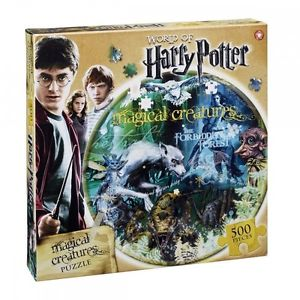 Winning Moves Puzzle Circolare Da 500 Pezzi - Harry Potter - Creature Magiche (UK)