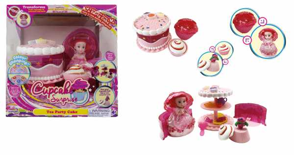 CUPCAKE CON TORTA SET PARTY TRASFORMABILE - Startrade - Grandi Giochi (Gg00317)