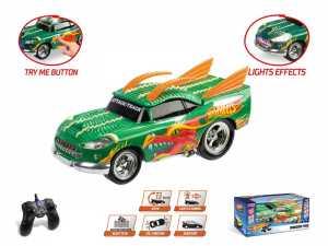Mondo Hot Wheels Dragon Fire Veicolo Radiocomandato Scala 1:16, Colore Verde/Arancione/Giallo, 1899-12-31T01 00.000Z, 63506