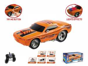 Hot Wheels Muscle King R/C, Colore Nero, MM-63507