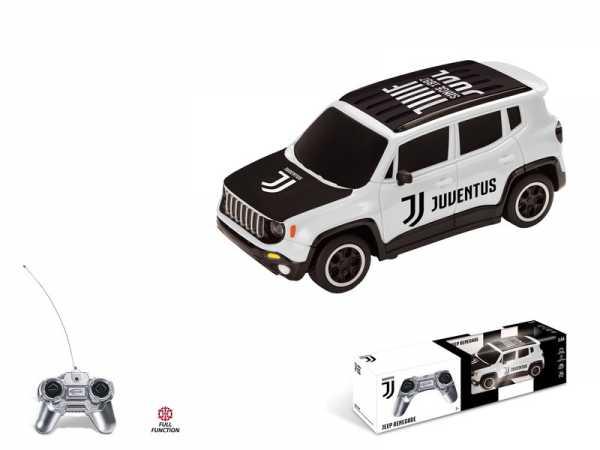 Mondo - Renegade F.C. Juventus Jeep Veicolo Radiocomandato, Colore Bianco, Scala 1:24, 63555