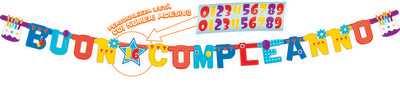 FESTONE PALLONCINI BUON COMPLEANNO 365X20 CM - Bigiemme Srl (5it29053)