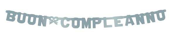 FESTONE BUON COMPLEANNO ARGENTO METAL 253 CM - Bigiemme Srl (5it29056)