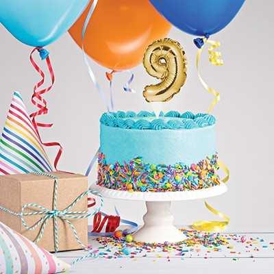 CAKE TOPPER ANNO 9 GOLD 23X9 CM - Bigiemme Srl (8c331865)