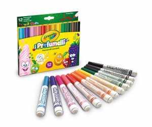 Crayola - I Profumelli Pennarelli Lavabili Profumati, Punta Maxi, Per Scuola E Tempo Libero, Colore Assortiti, 12 Pezzi, 58-8337