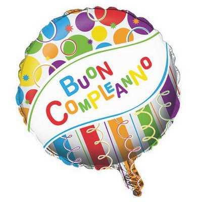PALLONCINO BUON COMPLEANNO CM 46 - Bigiemme Srl (8bg040859)