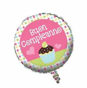 PALLONCINO BUON COMPLEANNO SWEET CM 45 - Bigiemme Srl (8bg049011)