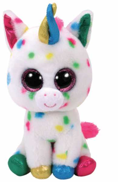 Ty Beanie Boos 28Cm Harmonie Unicorno Animale Peluches Giocattolo 468, Multicolore, 8421372669