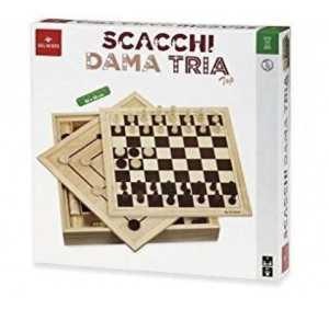 GIOCO SCACCHI DAMA TRIA TOP 36 CM - Dal Negro (53909)
