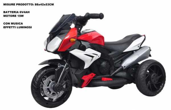 Moto Elettrica Sport Rosso ODG 865 6V 4AH