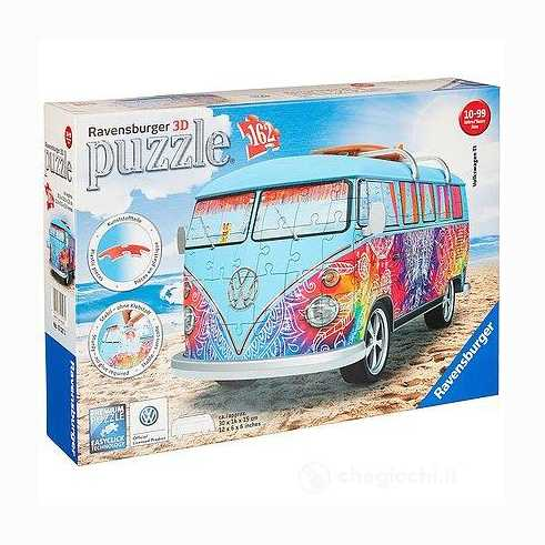 Ravensburger Italy Camper Volkswagen Indian Summer Puzzle, 3D Veicoli, 12527