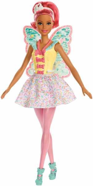 Barbie Dreamtopia Bambola Tema Caramelle Colorate Con Capelli E Ali Rosa, FXT03