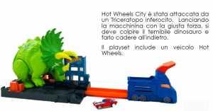 Hot Wheels City Playset Attacco Del Triceratopo Con Lanciatore E Macchinina, Gioco Per Bambini Di 4 + Anni, GBF97