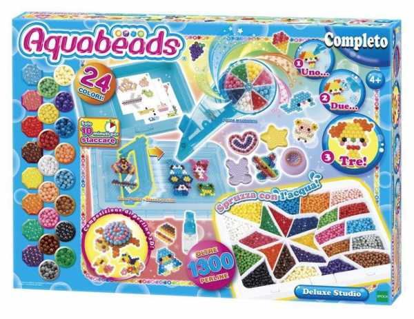 Aquabeads (perline Ad Acqua)- Deluxe Studio, Perle 1320 / Col 24 Perline, Multicolore, 30949-AQU