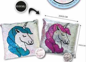 Nice GIRABRILLA Cuscino Unicorno 02546 (2 Versioni Pink E Blu
