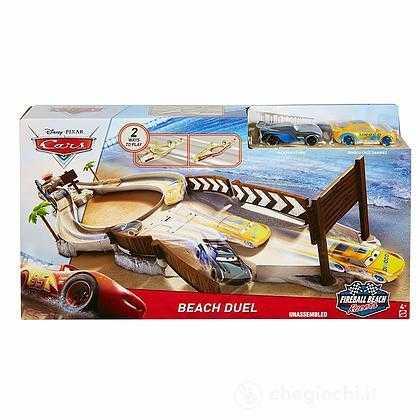 Disney - Cars- Cars Pista Sfida Sulla Spiaggia Fireball Beach, Multicolore, FVP33