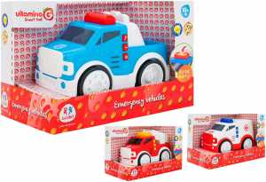 Globo- B/O Emergency Vehicles Push & Go W/L/S Try-Me 3 As (05344), Multicolore (1)