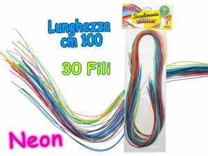SCUBIDU 30 FILI 100 CM COLORI NEON - Teorema (62119)