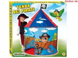 Teorema 64680 - Tenda Gioco Pirati Per Bambini Da Interno/Esterno, Blu