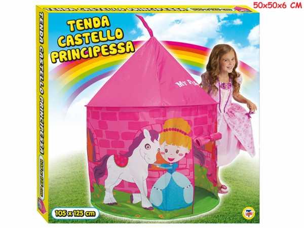 Teorema 64681 - Tenda Gioco Castello Principessa Per Bambini Da Interno/Esterno, Rosa