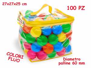 Teorema 65190 - Palline Fluo Assortite, 100 Pezzi