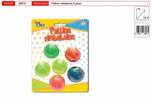 Set 6 PALLINE RIMBALZINE - Toys Garden (26616)