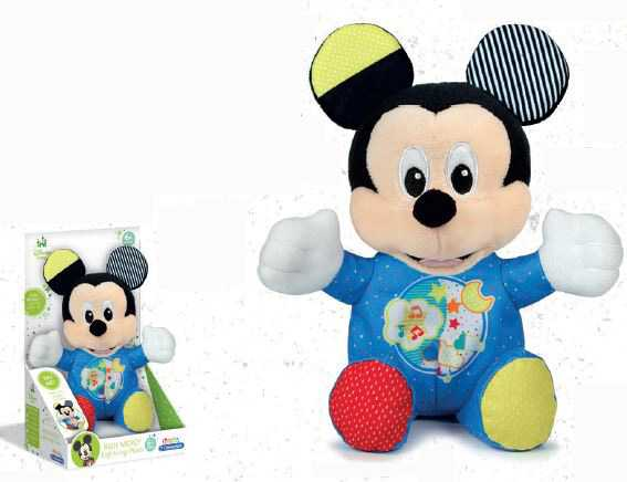 Clementoni- Baby Mickey Lightin Plush, Multicolore, 17206