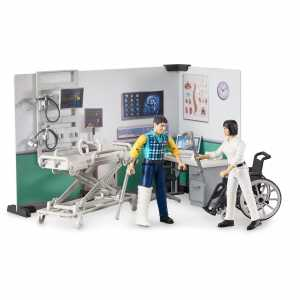 Bruder AMBULATORIO Medico Con Accessori, Multicolore, 62711