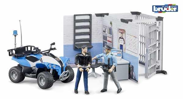 Bruder 62730 Bworld - Stazione Di Polizia, Multicolore