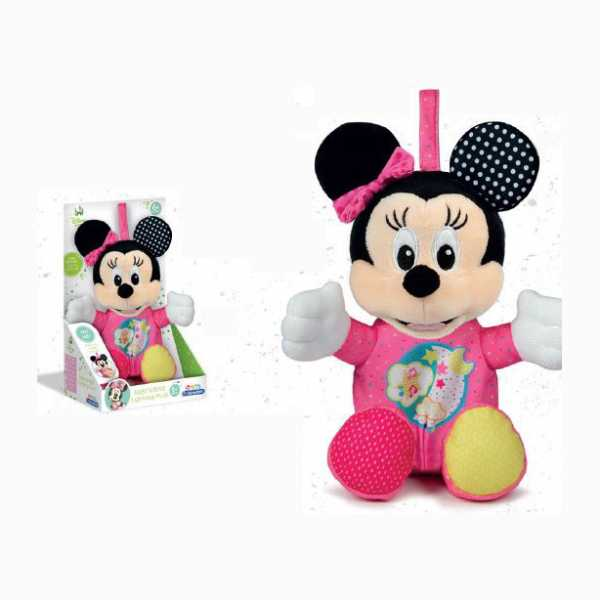 Clementoni- Baby Minnie Lightin Plush, Multicolore, 17207