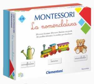 Clementoni-16101-Montessori-La Nomenclatura, Gioco Educativo, Multicolore, 16101