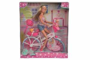 Simba 105739050 - Steffi Love, Bike Tour- Bambola  Con Bicicletta, Bebé E Accessori