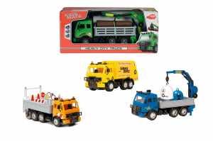 Dickie Toys Toys-3744003 Camion Assortiti Con Parti Mobili E Accessori Cm.20, Multicolore, 203744003