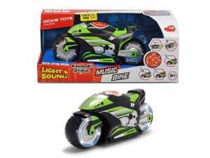 Dickie Toys 203764005Music Bike Giocattolo Motociclo Con Motore, Funzione Di Luce E Suono