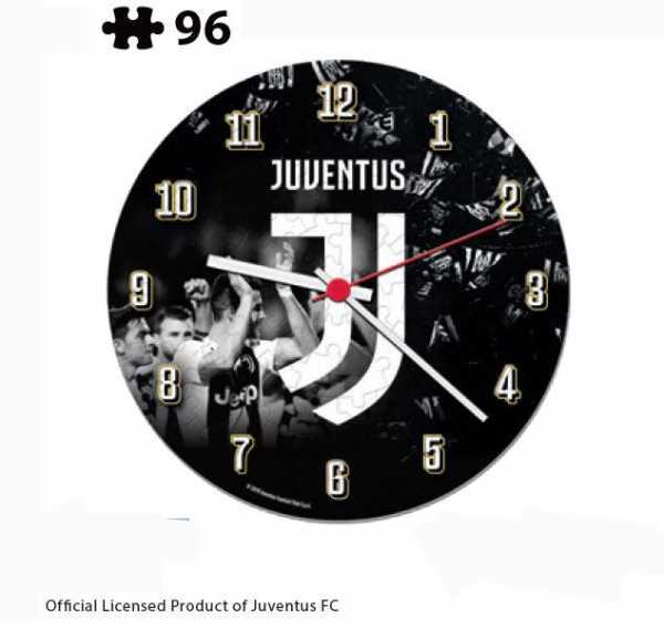 Clementoni- Clock Puzzle-Juventus-96 Pezzi, Multicolore, 23037