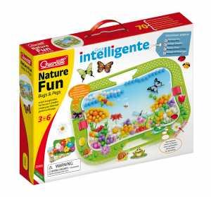 Quercetti Nature Fun Bug & Pegs Chiodini Con Scenario Giardino Farfalle E Natura