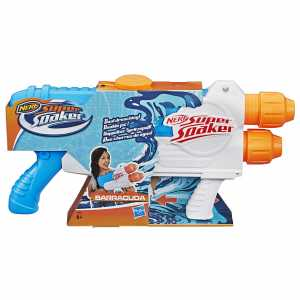 Nerf Super Soaker - Barracuda E Splash Mouth (2 Blaster Ad Acqua, Pronti Per Ogni Sfida)