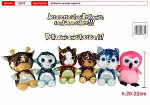 PELUCHE BRILLAMICI CM 20-22 6 MODELLI - Toys Garden (26870)