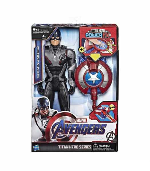 Hasbro Marvel Avengers Titan Hero Power FX Capitan America, Multicolore, E3301103
