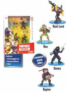 Fortnite–Blister 4Figure 7cm, Personaggi Edizione Limitata (Giochi Preziosi Frt14000)
