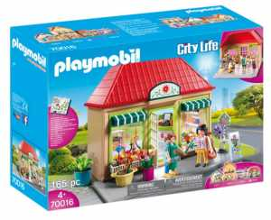 Playmobil- My Flower Shop Action Figure Playset E Accessori, Multicolore, 70016