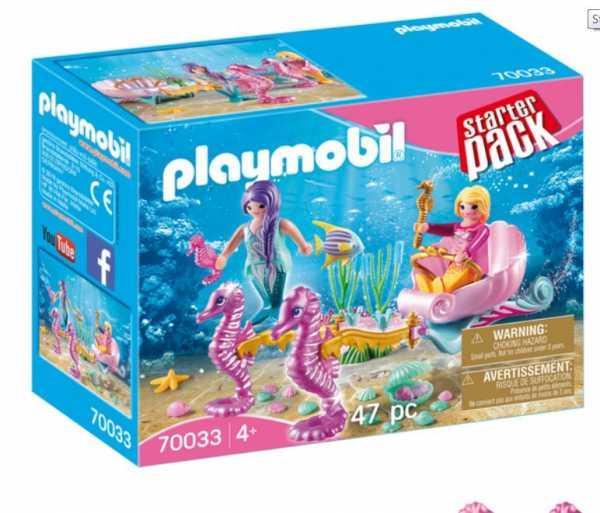 Playmobil- Starter Pack Giocattolo Carrozza Delle Sirene, Multicolore, 70033