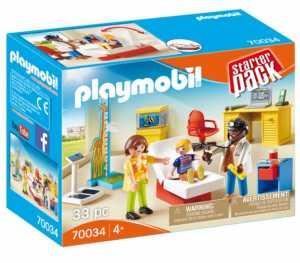 Playmobil- Starter Pack: Visita Pediatra Gioco, Multicolore, 70034