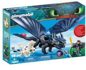 Playmobil 70037 - Hiccup & Sdentato Con Baby Dragon